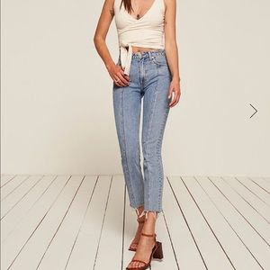 Reformation Seamed Jeans